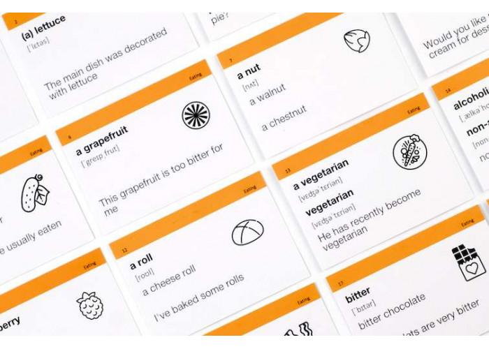Карточки для изучения английского языка English Student Intermediate B1.1 (русско-английские)