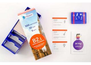 Карточки для изучения английского языка English Student Upper-Intermediate B2.1 (русско-английские)