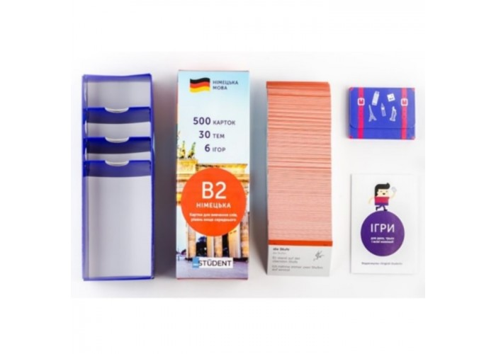 Карточки для изучения немецкого языка English Student Upper-Intermediate B2 (укр.)