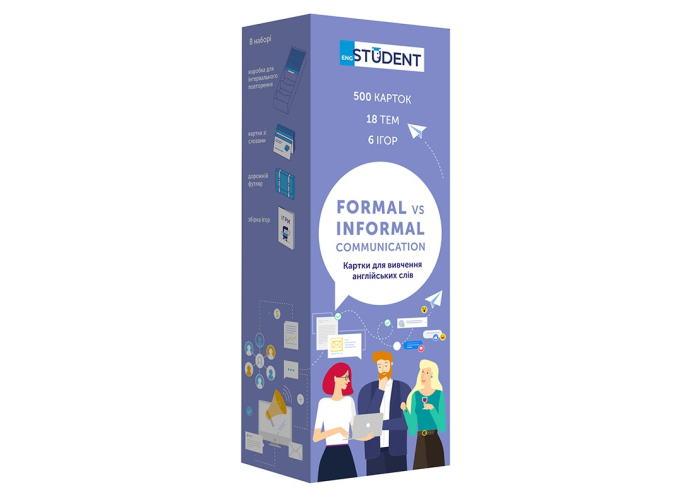 Карточки для изучения английского языка English Student Formal&Informal Communication (укр.)