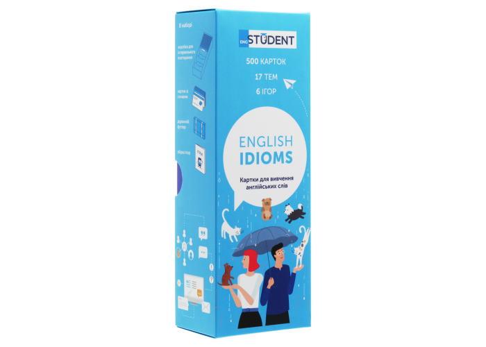 Карточки для изучения английского языка English Student Idioms (укр.)