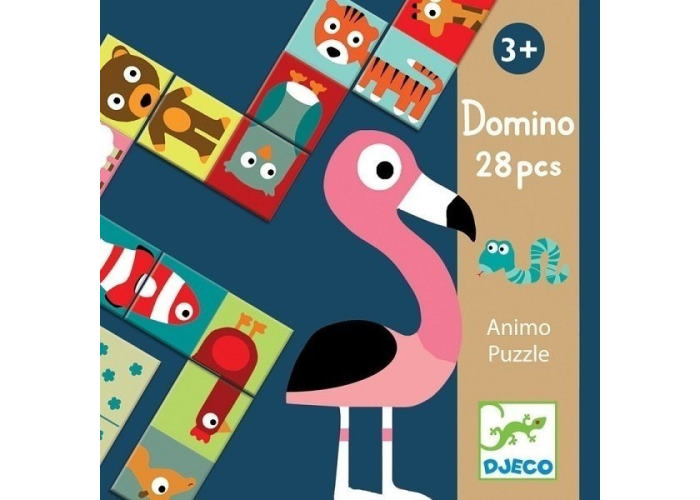 Детское домино. Сложи животное (Domino Animo puzzle, 28 pcs)