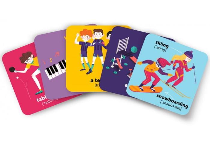 Карточки для изучения английского языка согласно программе МОН English Student. Спорт и досуг + аудио (укр.)