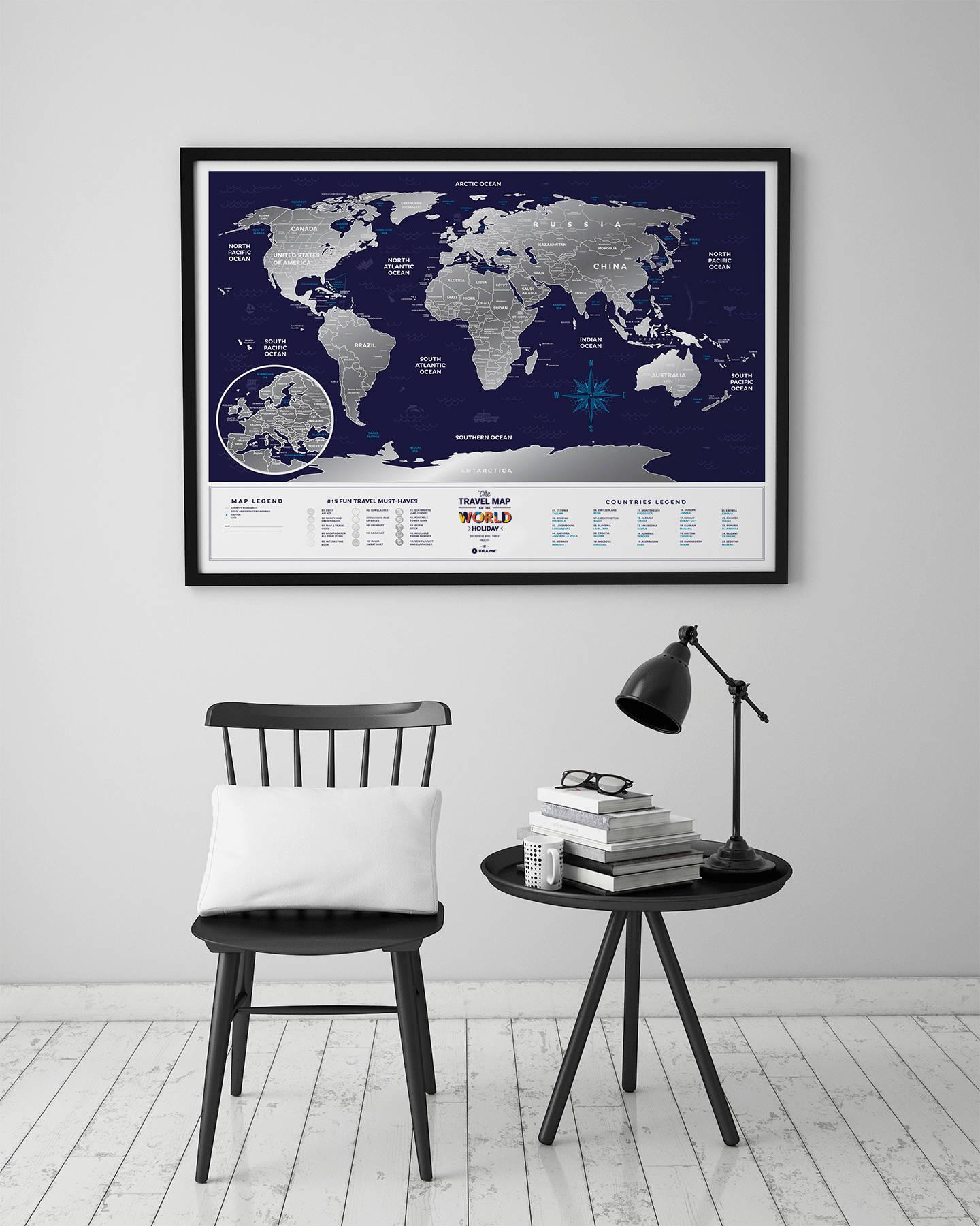 Скретч карта Travel Map Holiday World
