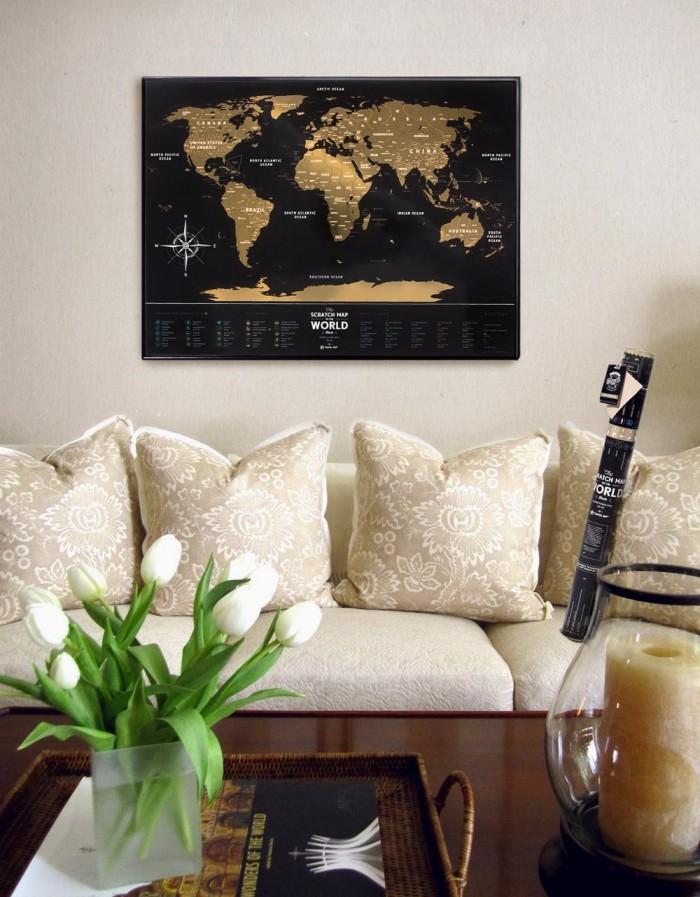 Скретч карта Travel Map Black World