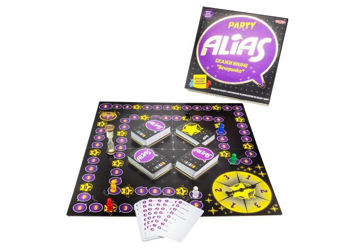 Настольная игра Пати Алиас и компоненты игры