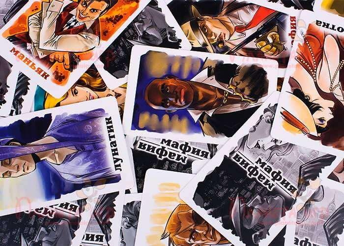 Настольная игра Мафия: карточки