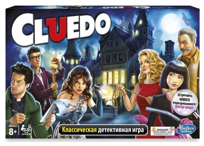 Настольная игра Клюэдо и компоненты игры