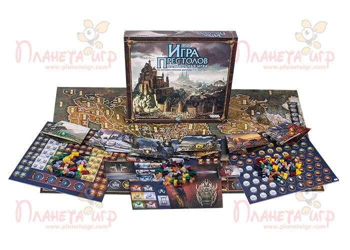 Настольная игра Игра престолов и компоненты игры