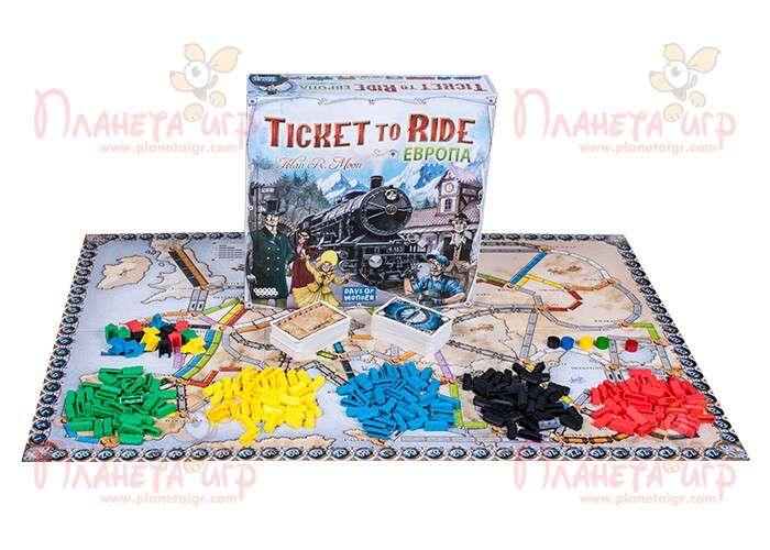 Настольная игра Билет на поезд: Европа и компоненты игры