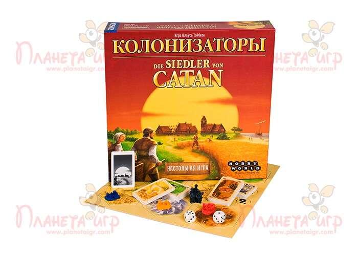 Настольная игра Колонизаторы и компоненты игры