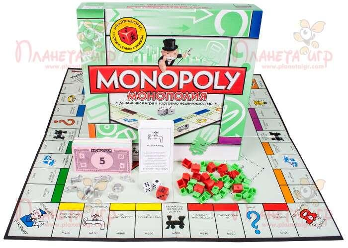 Настольная игра Монополия и компоненты игры