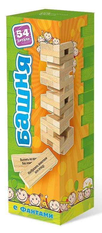 Коробка настольной игры Башня с заданиями для детей