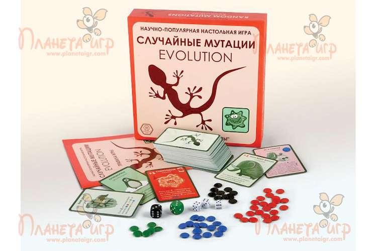 Настольная игра Эволюция. Случайные мутации и компоненты игра