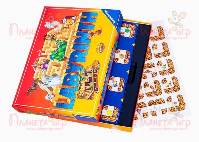 Настольная игра Сумасшедший лабиринт и компоненты игры