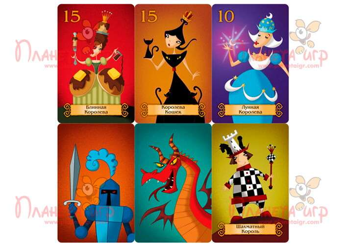 Настольная игра Спящие королевы Делюкс: карточки