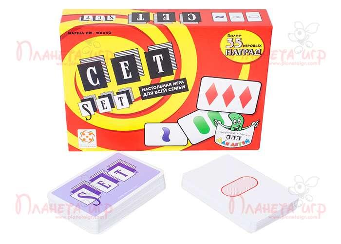 Настольная игра Сет (Set) и компоненты игры