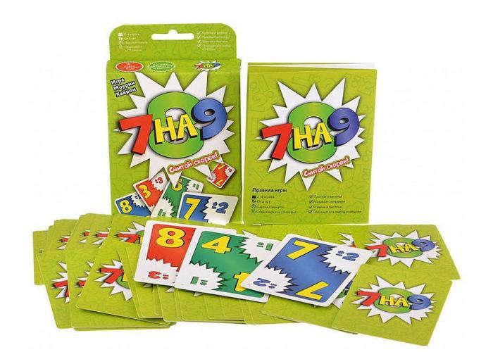 Настольная игра 7 на 9 и компоненты игры