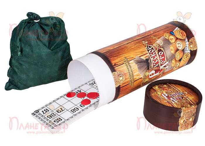 Настольная игра Русское лото (тубус)