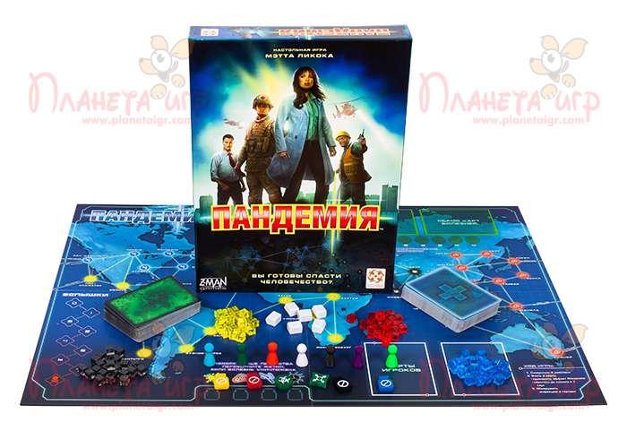 Настольная игра Пандемия и компоненты игры
