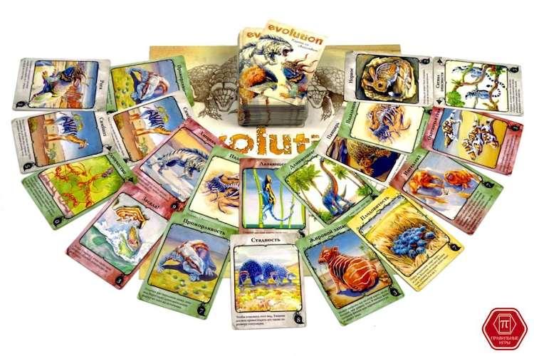 Игра Эволюция. Естественный отбор (Evolution. The dynamic game of survival): карточки