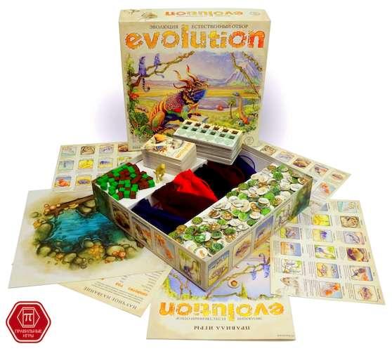 Игра Эволюция. Естественный отбор (Evolution. The dynamic game of survival) и компоненты игры