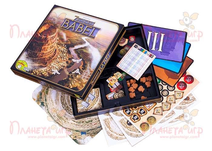 Дополнение к игре 7 Чудес: Вавилон и компоненты