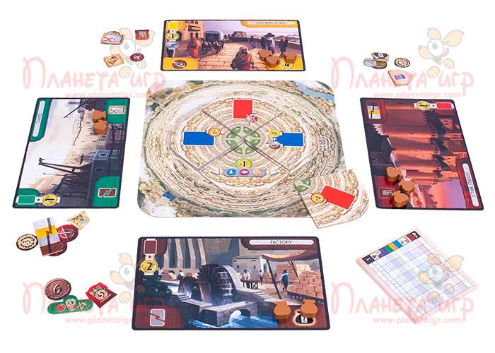 Компоненты игры 7 Чудес: Вавилон