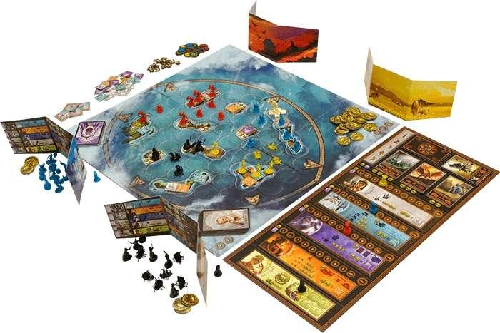 Игровое поле и элементы игры Киклады