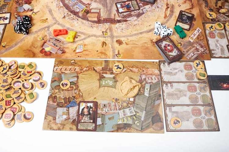 Элементы игрового поля и компонентов игры Badlands: Аванпост человечества