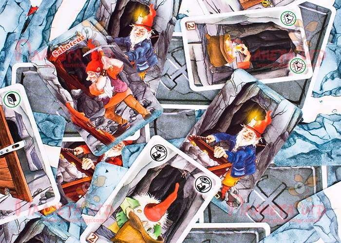 Карточки настольной игры Гномы-вредители Делюкс (с дополнением)