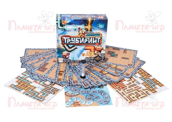 Настольная игра Трубиринт и компоненты игры