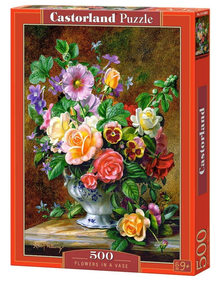 Пазл Цветы в вазе