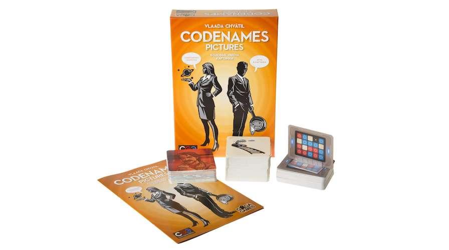 Игра Кодовые имена. Картинки (Codenames: Pictures) и компоненты игры