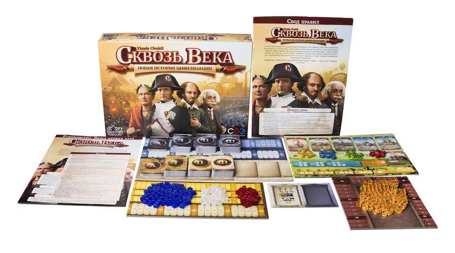 Игра Сквозь Века: Новая История Цивилизации и компоненты игры