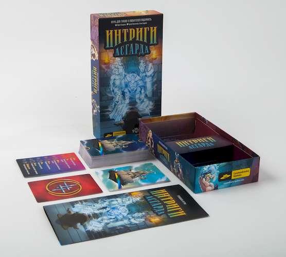 Коробка и элементы игры Интриги Асгарда