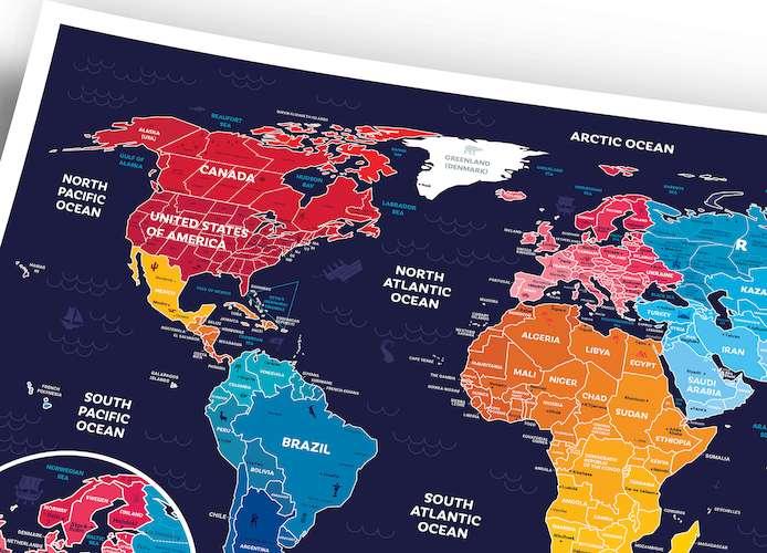 Скретч карта мира Travel Map™ Holiday World
