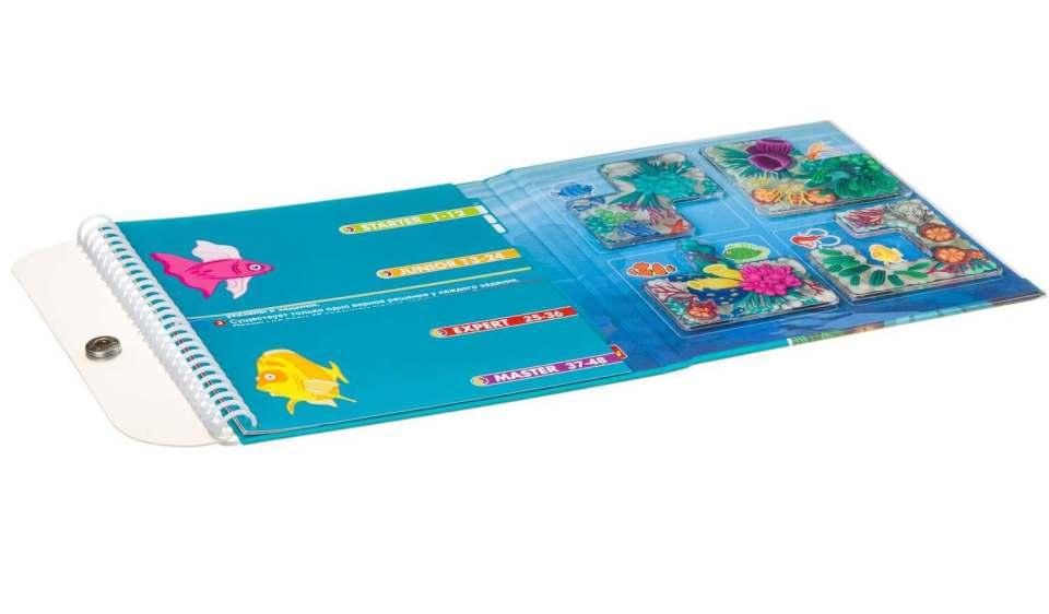 Брошюра и игровая доска дорожной магнитной игры Кораловий риф